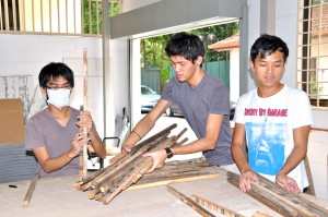 Woodwork lab for interior design course at First City University College