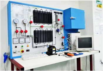 Domestic Refrigeration Trainer at the Fluid Mechanics Lab for Engineering students at Multimedia University (MMU) Melaka